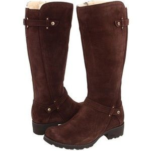 UGG Jillian Brown Suede Waterproof boots 8.5